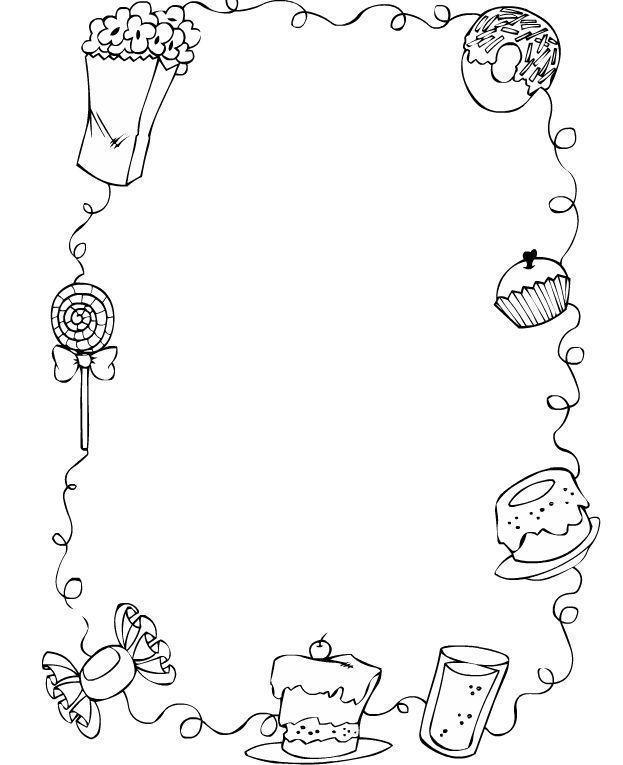 Marcos para niños para colorear - Imagui