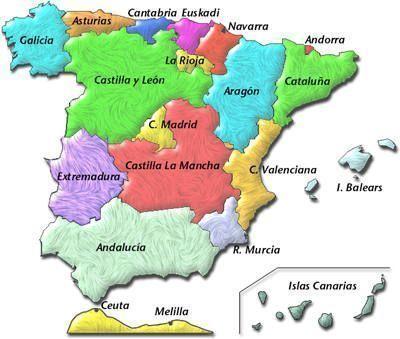 ESPAÑA MAPA COMUNIDADES AUTONOMAS