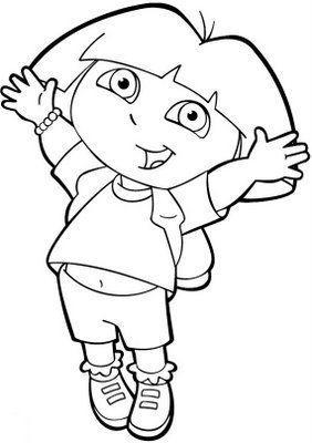Dibujos de Dora la Exploradora para pintar